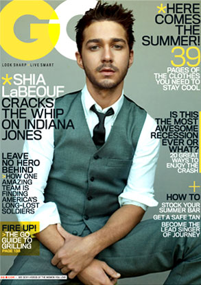 shia labeouf gq cover. COVER-Up: Shia LaBeouf is GQ